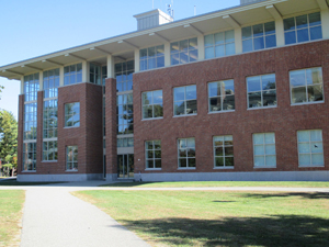 One of the classroom buildings