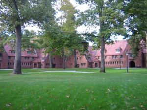 The school's majestic courtyard