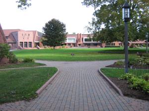 Entering the vast campus