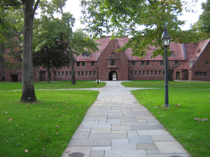 Walkway leading from main campus