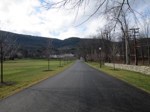 School's long driveway