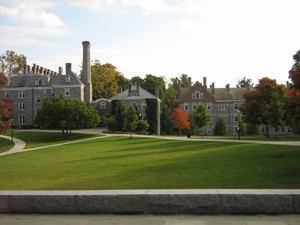 Scenic view of campus