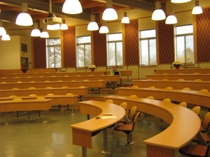 Inside a lecture hall