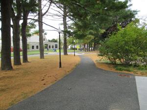 A campus pathway