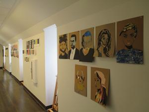 Inside the art building