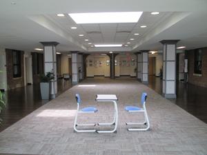 Inside a common area