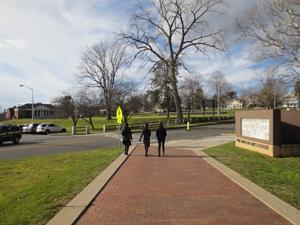 Walkway to main campus