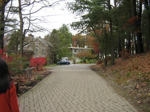 Walkway to main building