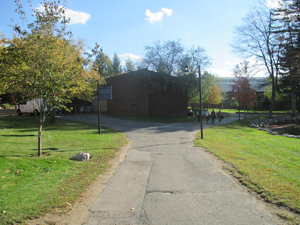 A campus walkway