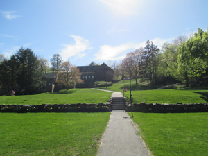 Walkway through campus