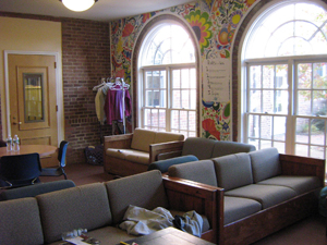 A lounge in the student center