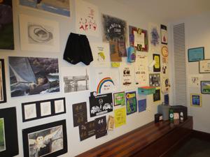 Inside arts building