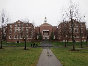 Walkway to dorms