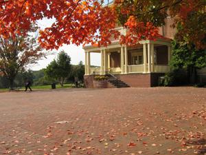 Red brick courtyard