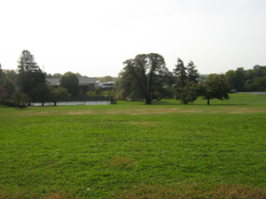 View of the George School field