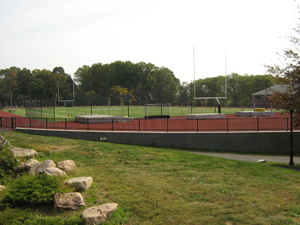 The campus track and football field