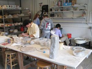 Inside a ceramics class