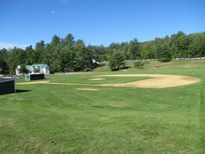 The baseball field