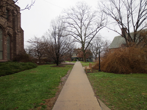 Walkway to library