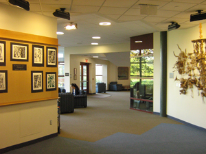 The elegant gallery with student art
