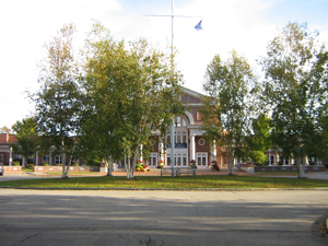 The school's main building