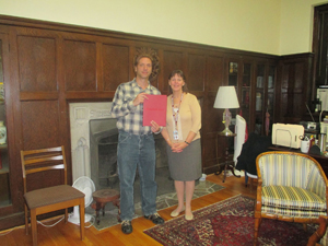 Vinnie with Admissions Director