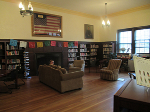 Inside the Admissions building