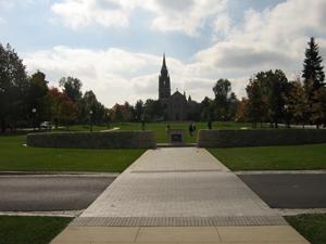 Walkway toward courtyard