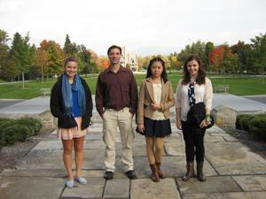 Student tour group