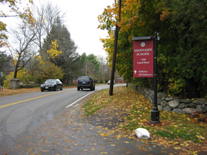Middlesex School sign