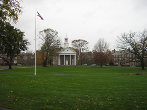 Campus circle with chapel