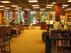 Look into the library