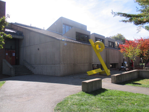 Outside of the Arts building