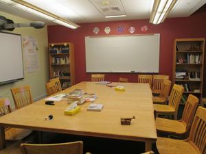 Inside of a classroom