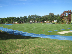 Scenic view of sports field