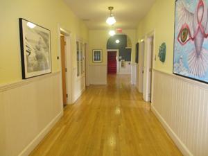 Inside Milton's main building