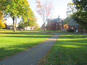 Walkway toward the dorms