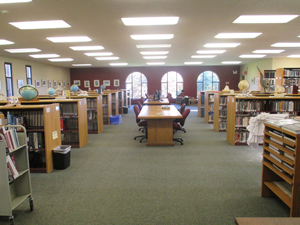 Inside the NMH library