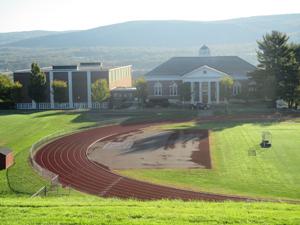 Beautiful campus landscape