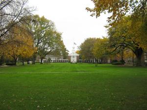 Peddie's campus green