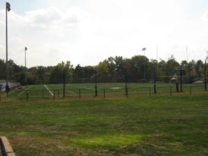 The school football field
