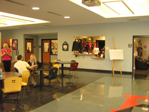 A look through the student center