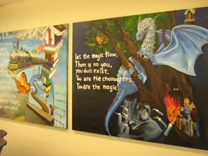 Student drawn murals