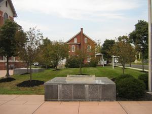 Stone monument outside Main