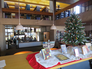 Library during holidays