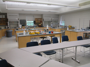 A science classroom