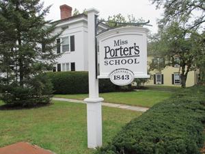 Miss Porter's School sign