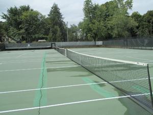Campus tennis courts