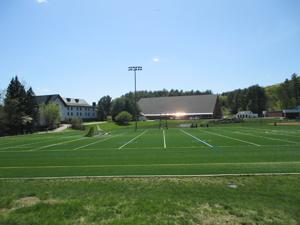 Sports field wide view