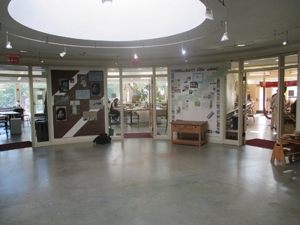 Classrooms in the Arts building